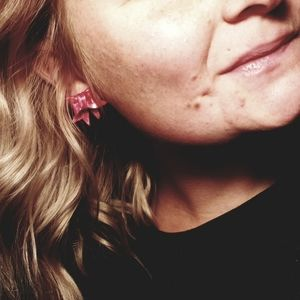 Hand-Made Holiday Bow Studs